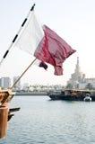 Bandierina del Qatar Immagine Stock