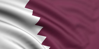Bandierina del Qatar Fotografia Stock