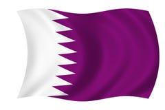 Bandierina del Qatar Fotografie Stock Libere da Diritti