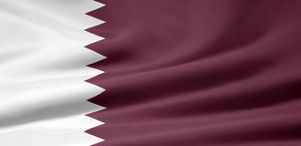 Bandierina del Qatar Immagini Stock Libere da Diritti