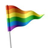 Bandierina del Rainbow illustrazione vettoriale
