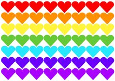 Bandierina del Rainbow del cuore Fotografie Stock