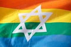 Bandierina del Rainbow dell'Israele Fotografia Stock Libera da Diritti