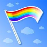 Bandierina del Rainbow di vettore Fotografia Stock
