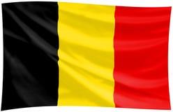 Bandierina del regno del Belgio illustrazione vettoriale