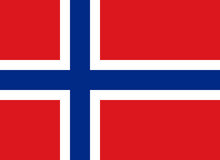 Bandierina del regno della Norvegia Fotografie Stock