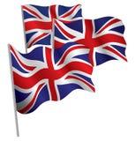 Bandierina del Regno Unito 3d. Immagine Stock Libera da Diritti