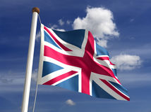 Bandierina del Regno Unito (con il percorso di residuo della potatura meccanica) Immagini Stock Libere da Diritti