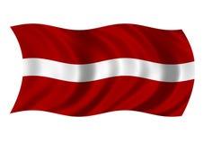 Bandierina del Republic Of Latvia Immagine Stock