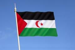 Bandierina del Sahara occidentale Immagine Stock