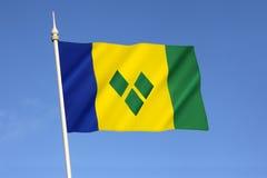 Bandierina del Saint Vincent And The Grenadines Fotografia Stock