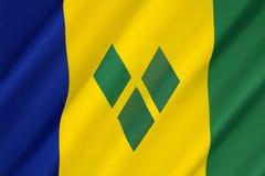 Bandierina del Saint Vincent And The Grenadines Immagine Stock Libera da Diritti