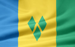 Bandierina del Saint Vincent And The Grenadines Fotografia Stock Libera da Diritti