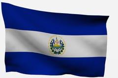 Bandierina del Salvador 3d Fotografia Stock Libera da Diritti
