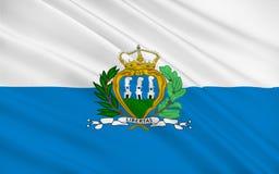 Bandierina del San Marino illustrazione vettoriale