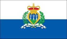 Bandierina del San Marino Immagini Stock