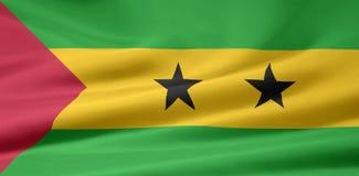 Bandierina del Sao Tomé e di Pricipe Fotografia Stock