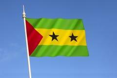 Bandierina del Sao Tome And Principe Fotografia Stock Libera da Diritti