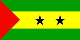 Bandierina del Sao Tome And Principe Fotografie Stock