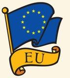 Bandierina del sindacato europeo Immagini Stock Libere da Diritti