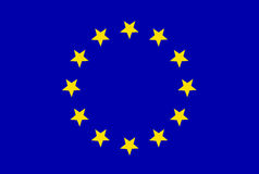 Bandierina del sindacato europeo Fotografie Stock
