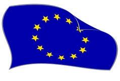 Bandierina del sindacato europeo Fotografia Stock Libera da Diritti