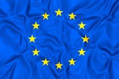 Bandierina del sindacato europeo Fotografie Stock Libere da Diritti