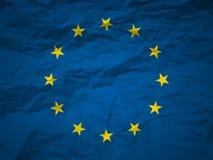 Bandierina del sindacato europeo della priorità bassa di Grunge Immagini Stock Libere da Diritti
