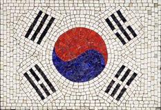 Bandierina del Sud Corea Fotografia Stock