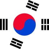 Bandierina del Sud Corea Immagini Stock Libere da Diritti
