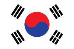 Bandierina del Sud Corea Dimensioni accurate, Immagine Stock Libera da Diritti