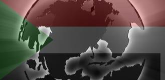 Bandierina del Sudan Fotografia Stock
