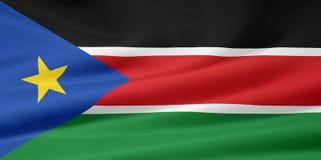 Bandierina del Sudan del sud Immagini Stock Libere da Diritti