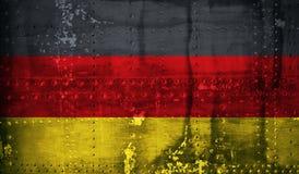 Bandierina del tedesco di Grunge Fotografia Stock Libera da Diritti