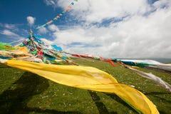 Bandierina del Tibet Fotografie Stock Libere da Diritti