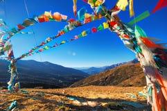 Bandierina del Tibet Immagini Stock