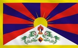 Bandierina del Tibet illustrazione vettoriale
