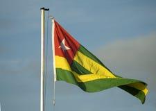 Bandierina del Togo Immagine Stock