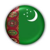 Bandierina del Turkmenistan Fotografia Stock