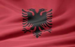 Bandierina dell'Albania Fotografia Stock Libera da Diritti