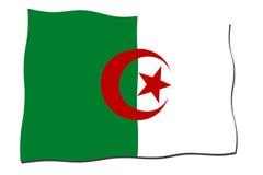 Bandierina dell'Algeria Fotografie Stock