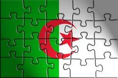 Bandierina dell'Algeria Immagine Stock