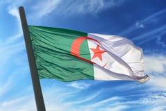 Bandierina dell'Algeria Immagini Stock