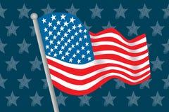 Bandierina dell'America Immagini Stock Libere da Diritti