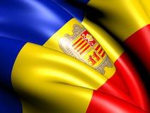 Bandierina dell'Andorra Fotografia Stock