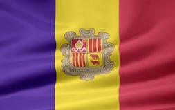 Bandierina dell'Andorra Immagine Stock Libera da Diritti