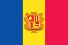 bandierina dell'Andorra Fotografie Stock Libere da Diritti