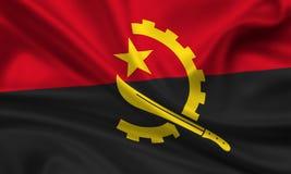 Bandierina dell'Angola Fotografia Stock
