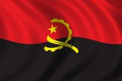 Bandierina dell'Angola Fotografia Stock Libera da Diritti