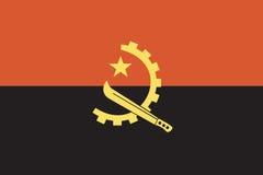 Bandierina dell'Angola Fotografie Stock